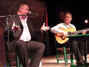 Manuel Romero, en un momento de su actuación
