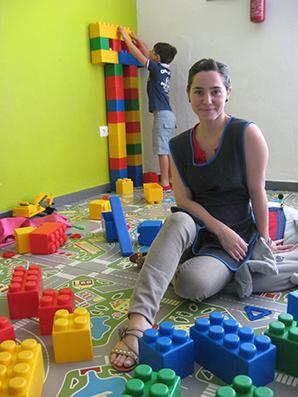 Rocío Álvarez, en su servicio de ludoteca