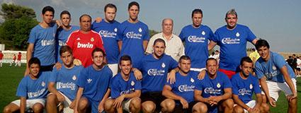 Miembros de la Hermandad de San Pedro, campeona del tercer mundialito. Foto: Grupo Joven Hdad. Angustias de Estepa.