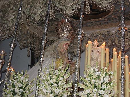 La Virgen de la Paz, el pasado sábado