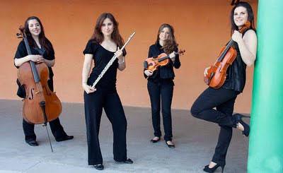 Las cuatro miembros del Cuarteto Epalí. Foto: blog del cuarteto.