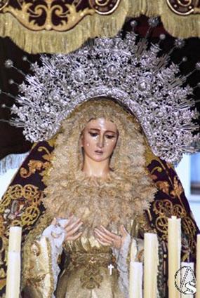 Imagen de la preciosa Virgen del Mayor Dolor de Osuna. Foto: artesacro.org