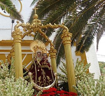 Procesión de la Virgen de la Fuensanta, el pasado día 8