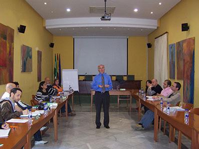 Antonio Cancelo, en la sede de la Escuela de Economía Social