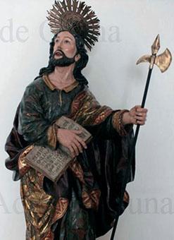 Imagen de San Judas Tadeo de la Iglesia de Consolación recién restaurada. Foto: La Voz Cofrade Osuna.