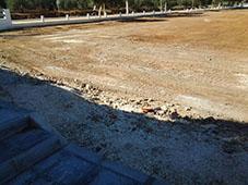 Limpieza del solar contiguo al cementerio de La Roda