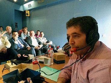 El alcalde de Estepa, entrevistado hoy por RNE. Foto: Twitter del programa (@vueltavueltaRNE)