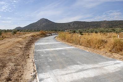 Uno de los caminos rurales arreglados por el programa Encamina2