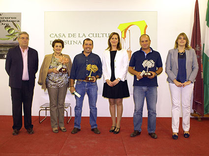 Los ganadores del concurso, tras la entrega de los galardones