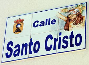 Nuevo rótulo en la calle Santo Cristo de Pedrera