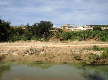 El río Genil, a su paso por Badolatosa