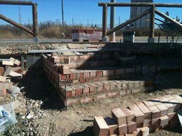 Obras en el acceso al paseo Castel Madama