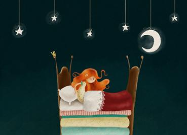 """""""La princesa y el guisante"""", ilustración de María Hesse"""
