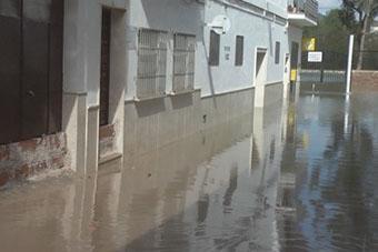Inundaciones en Badolatosa el pasado mes de marzo