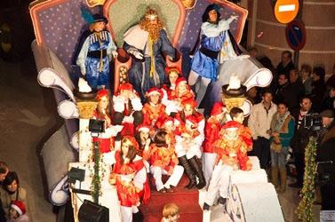 La carroza del Rey Melchor del año pasado en Herrera
