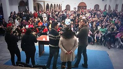 Imagen de la última reunión celebrada el viernes en tono al caso del joven Manuel