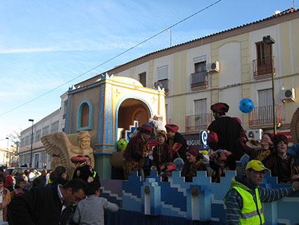 La carroza del Rey Melchor en Estepa