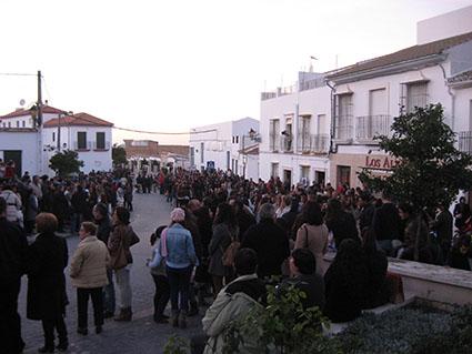 La Plaza del Llanete, a rebosar