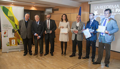 Imagen de los galardonados en esta primera edición de los premios