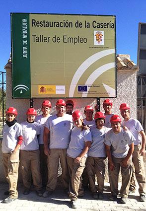 Imagen de los alumnos del taller de empleo de Gilena