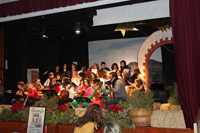 El Coro del CEIP Lope de Vega de Casariche, en un momento de su actuación