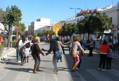 El juego del 'Cachucho' en Calle Real, el año pasado