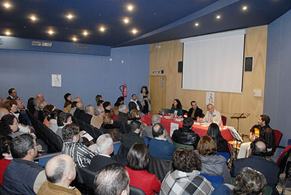 Imagen de la presentación del libro de Herrera en Estepa. Foto: web Ayto. Estepa.