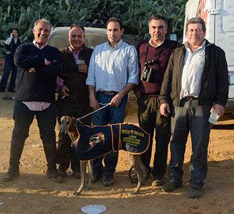 La galga de Herrera, con sus representantes