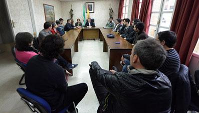 "REUNIÃ""N ALCALDE CON GRUPOS MUSICALES DE HERRERA"