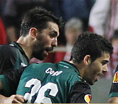 José Antonio Caro, anoche al término del partido. Foto: web oficial del Real Betis.