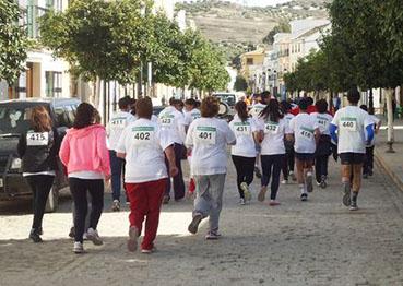 Participantes en la I Carrera Popular de la Mujer de Badolatosa