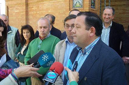 Romero y Centella, ayer durante las declaraciones realizadas en Sevilla