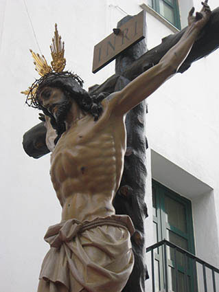 Cristo de la Buena Muerte de la Hermandad del Santo Entierro de Estepa. Foto: Reme Camero.