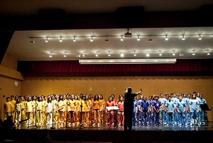 Foto del primer concierto del proyecto educativo Crecer cantando, Crecer soñando