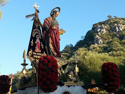 Imagen de San Marcos en su romería, el pasado 26 de abril. Foto: Hermandad Romera de Casariche.
