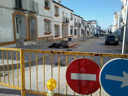 La calle La Senda, en obras