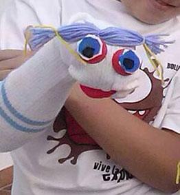 Una de las marionetas creadas en el taller