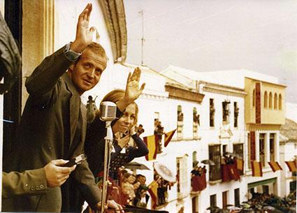 Foto: Visita de SS. MM. los Reyes de España a Estepa en 1977 - Autor: Carlos Martos