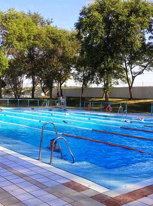 Vista general de la piscina municipal de El Saucejo