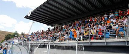 Vista general de las gradas de Valdebebas, el domingo. Foto: Web Real Madrid.