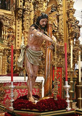 Santísimo Cristo Amarrado a la Columna de Estepa. Foto: Web de Paz y Caridad.