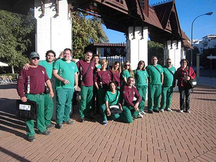Los alumnos-trabajadores del Taller de Empleo de Lora
