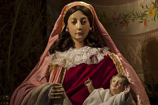 La Virgen de la Asunción durante la Navidad. Foto: Miguel Carmona.