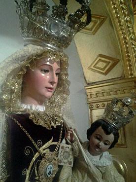 Imagen de la Virgen del Carmen de Gilena