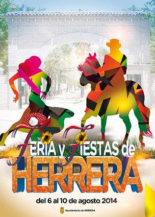 El cartel de la Feria de Herrera 2014, obra de Antonio Cosano