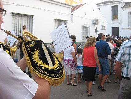La Asociación Cultural Amigos de la Música de Estepa acompañó la procesión de Santa Ana