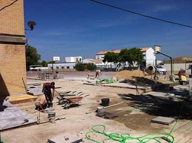 Las obras ya iniciadas en el CEIP Puerta Osuna
