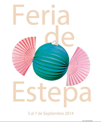 El cartel de la Feria de Estepa 2014, obra de Juan Fernández Robles