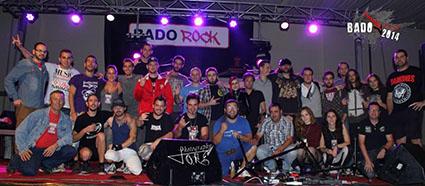 Los participantes en la final de Badorock. Foto: @badorock2014