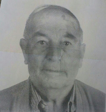 Foto distribuida por la familia del anciano desaparecido en Herrera para su localización